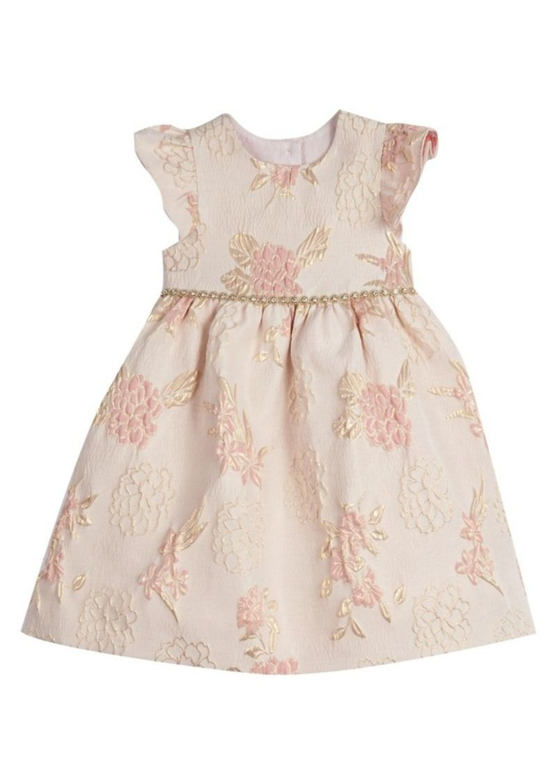 Laura Ashley Little Girl's Floral Brocade Dress