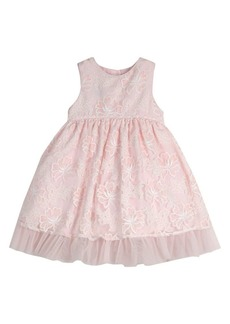 Laura Ashley Little Girl's Floral Embroidered Party Dress