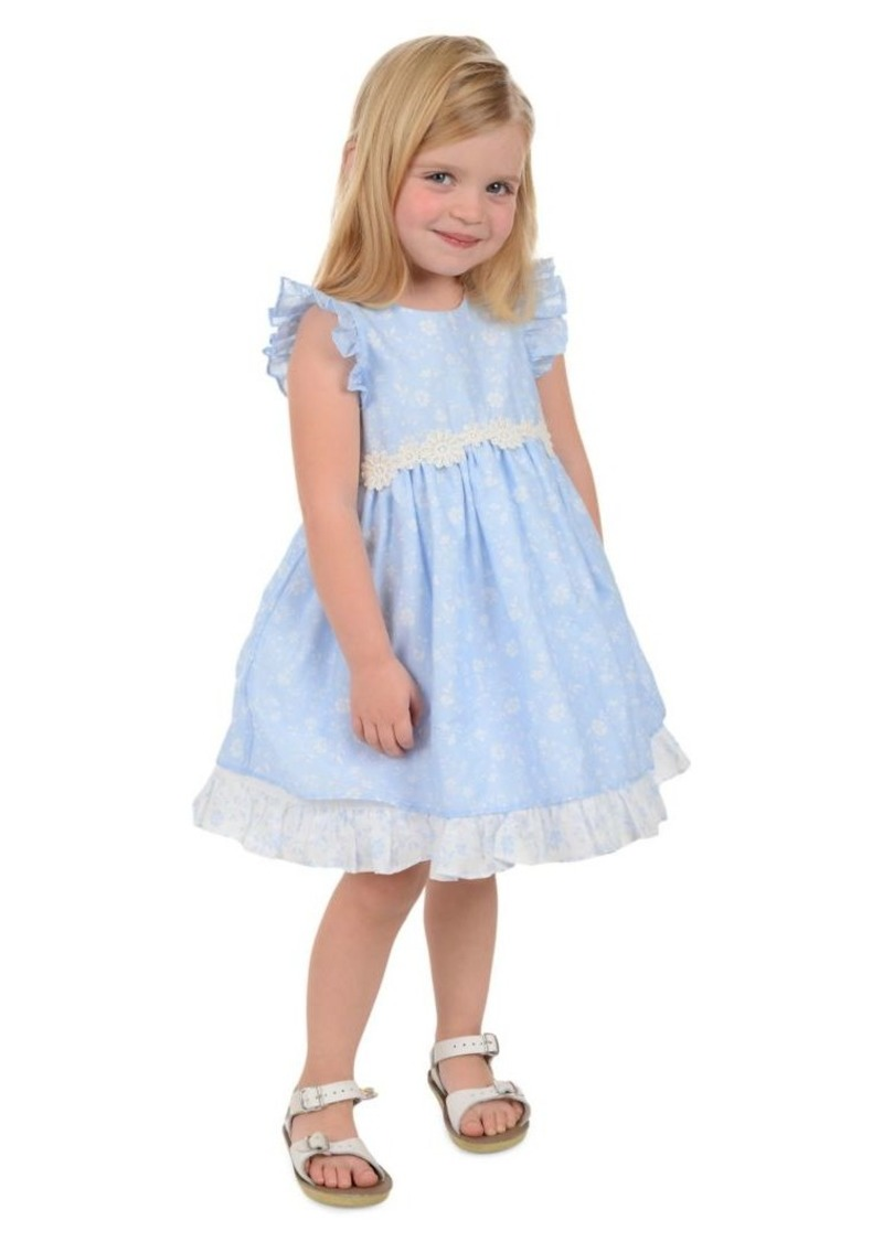 Laura Ashley Little Girl's Floral-Print Cotton Party Dress