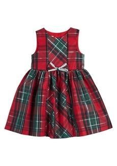 Laura Ashley Little Girl's Plaid Bow Dress