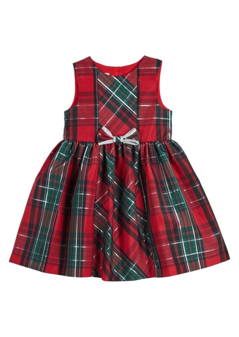 Laura Ashley Little Girl's Plaid Bow Dress