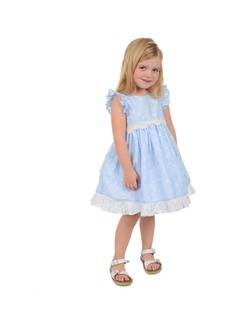 Laura Ashley Toddler Girls Ruffle Sleeve Party Dress