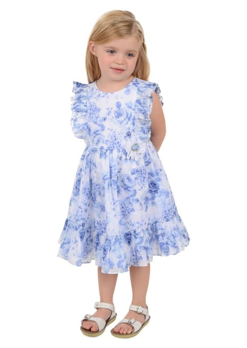 Laura Ashley Little Girl's Ruffled Floral-Print Cotton Dress