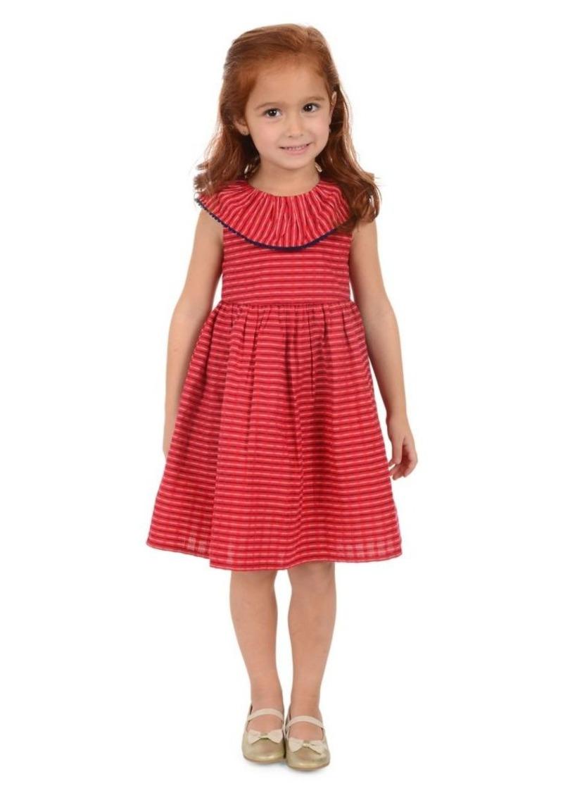 Laura Ashley Little Girl's Ruffled Seersucker Cotton Dress