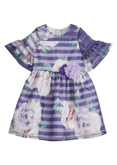 Laura Ashley Little Girl's Stripe & Floral Dress