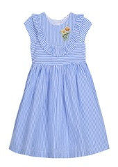 Laura Ashley London Baby Girl's Cap Sleeve Seersucker Dress