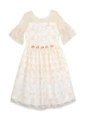 Laura Ashley London Baby Girl's Embroidered Mesh Dress
