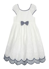 Laura Ashley London Baby Girl's Puff Sleeve Bow Dress