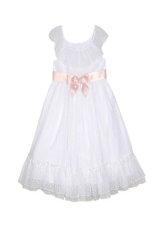 Laura Ashley London Baby Girl's Ruffle Neck Dress with Sash