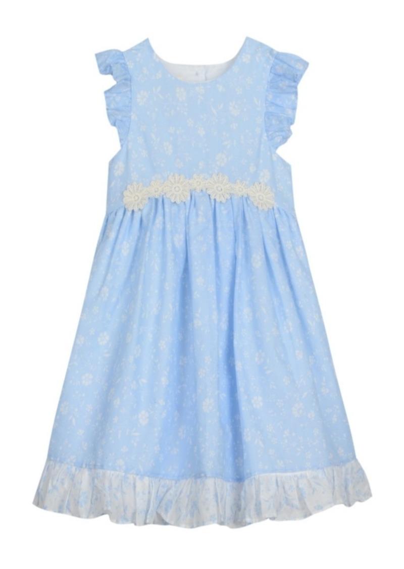 Laura Ashley London Baby Girl's Ruffle Sleeve Party Dress