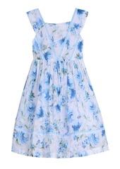 Laura Ashley London Baby Girl's Sleeveless Ruffle Front Party Dress