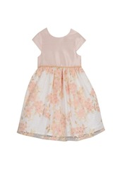Laura Ashley London Girl's Cap Sleeve Embroidered Party Dress