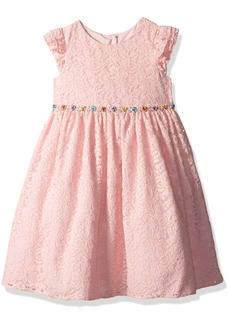 Laura Ashley London Girls' Little Flutter Sleeve Party Dress