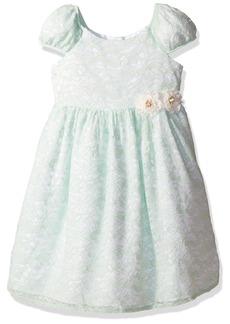 Laura Ashley London Girls' Little Puff Sleeve Party Dress