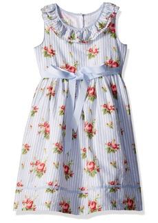 Laura Ashley London Girls' Little Ruffle Collar Party Dress  6X