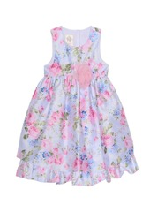 Laura Ashley London Girl's Sleeveless Floral Print Party Dress