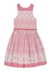 Laura Ashley London Girl's Sleeveless Mixed Fabric Dress