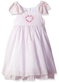 Laura Ashley London Girls' Little Bow Sleeve Party Dress