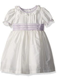Laura Ashley London Little Girls' Classicly Sweet Taffeta Party Dress Off White