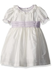 Laura Ashley London Girls' Little Classicly Sweet Taffeta Party Dress Off White