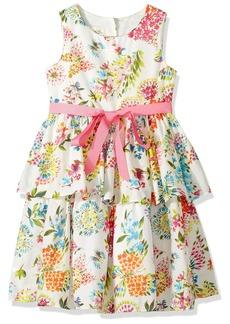 Laura Ashley London Girls' Little Floral Cotton Party Dress