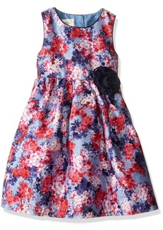 Laura Ashley London Little Girls' Floral Shantung Dress Multi