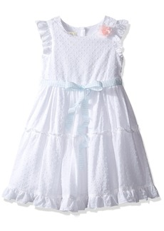 Laura Ashley London Little Girls' Flutter Sleeve Party Dress
