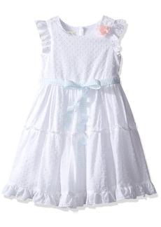 Laura Ashley London Little Girls' Flutter Sleeve Party Dress  6x