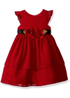 Laura Ashley London Little Girls' Holiday Lace Party Dress