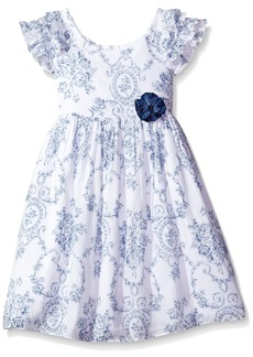 Laura Ashley London Girls' Little Ruffle Collar Dress