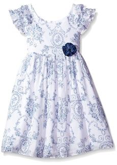 Laura Ashley London Little Girls' Ruffle Collar Dress
