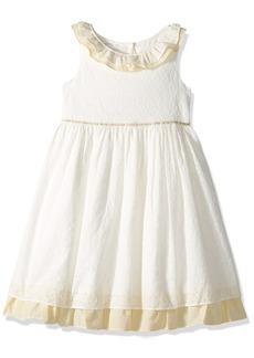 Laura Ashley London Girls' Little Ruffle Collar Party Dress