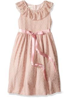 Laura Ashley London Little Girls' Ruffle Collar Party Dress