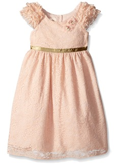 Laura Ashley London Little Girls' Ruffle Sleeve Party Dress