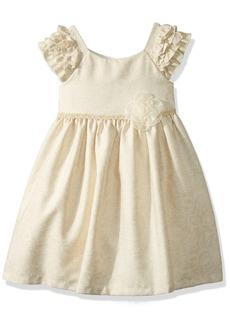 Laura Ashley London Girls' Little Ruffle Sleeve Party Dress