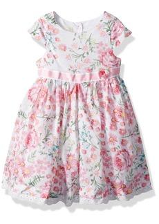 Laura Ashley London Little Girls' Short Sleeve Party Dress Multi