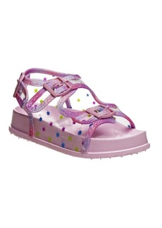 Laura Ashley Toddler Girls Foot Bed Buckle Sandals