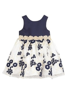 Laura Ashley Little Girl's & Girl's Embroidered Floral Dress