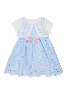Laura Ashley Little Girl's 2-Piece Shrug & Dress Set