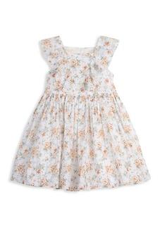 Laura Ashley Little Girl's Floral Clip Dot Dress