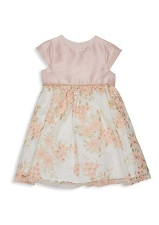 Laura Ashley Little Girl's Floral Embroidery Cap-Sleeve Dress