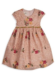 Laura Ashley Little Girl's Floral-Embroidery Lace Dress