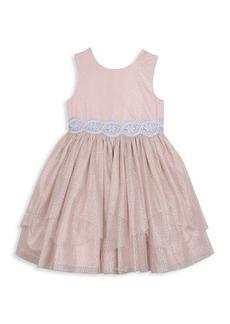 Laura Ashley Little Girl's Foil-Print Mesh Dress