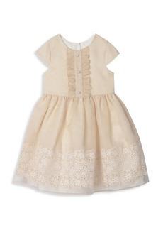Laura Ashley Little Girl's Organza Border-Print Dress