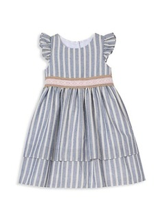 Laura Ashley Little Girl's Striped Tiered Dress