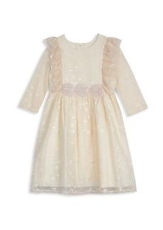 Laura Ashley Little Girl's Tonal Floral Dress