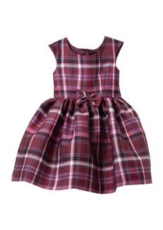 Laura Ashley Plaid Bow Dress (Toddler & Little Girls)