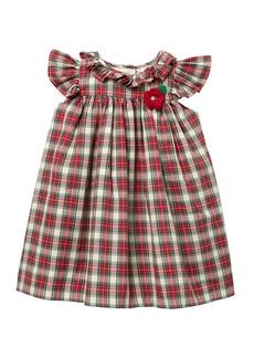 Laura Ashley Plaid Ruffle Sleeve Float Dress (Toddler Girls)