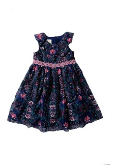 Laura Ashley Printed Lace Dress (Toddler & Little Girls)