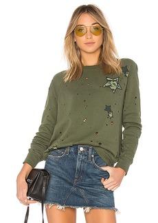 Lauren Moshi Darby Vintage Pullover Sweatshirt in Green. - size L (also in M,S,XS)